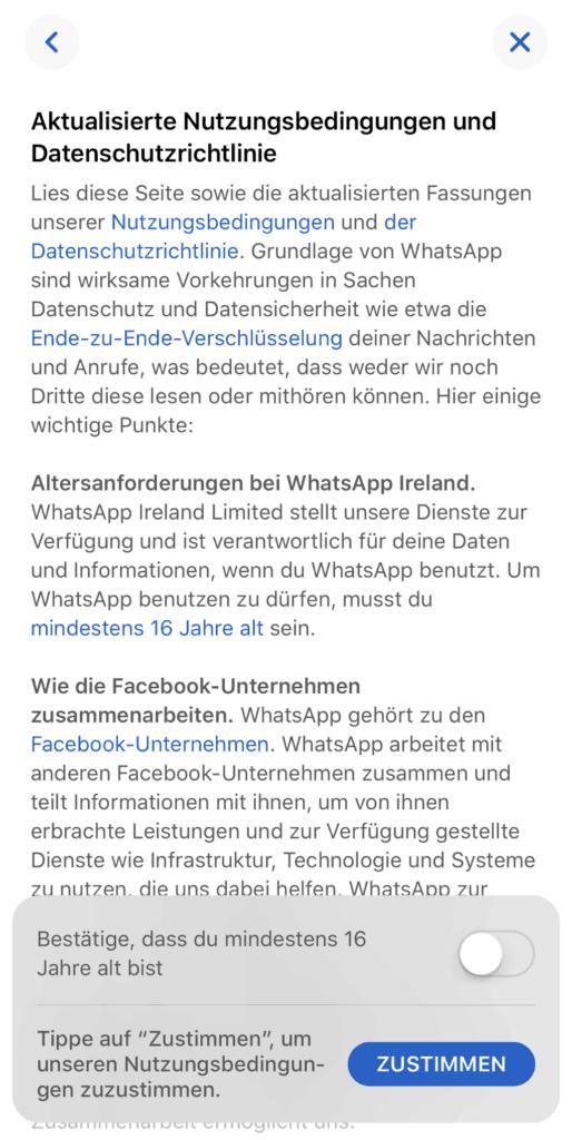 WhatsApp EU-Datenschutzgrundverordnung
